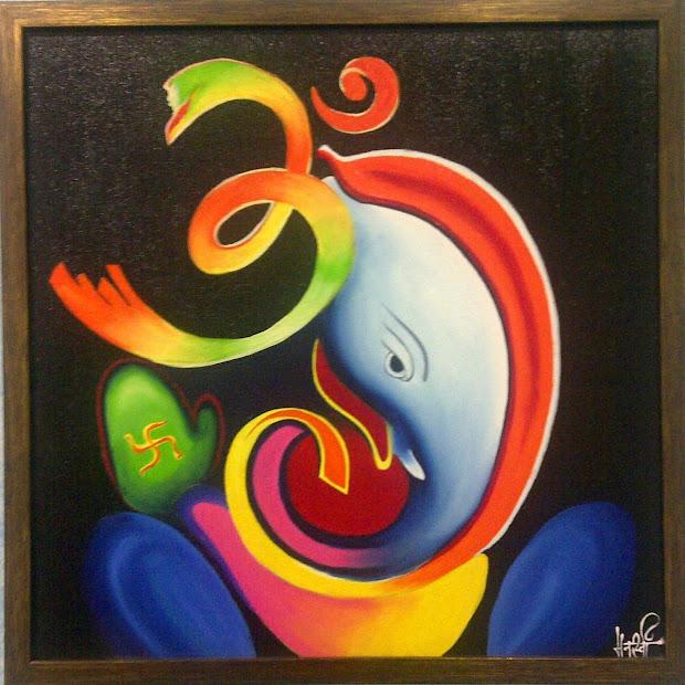 Simple Ganesha Paintings
