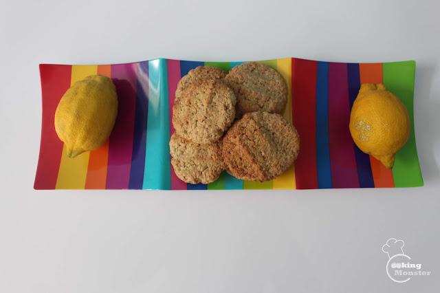 Cytrynowe ciasteczka owsiane