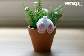 Easy Easter Craft Ideas for Kids - DIY Curious Bunny Pots - Attach Your Bunny Feet