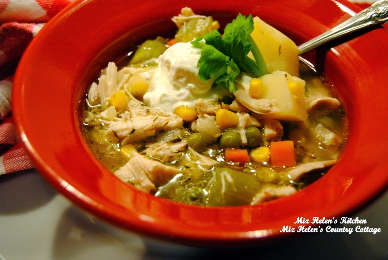 Chicken Vegetable Soup with Creamy Dill Sauce at Miz Helen's Country Cottage