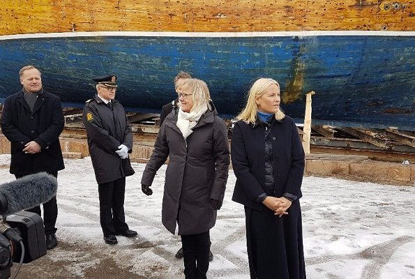 Crown Princess Mette Marit of Norway visited Fredrikstad in connection with construction of Cathedral of Hope