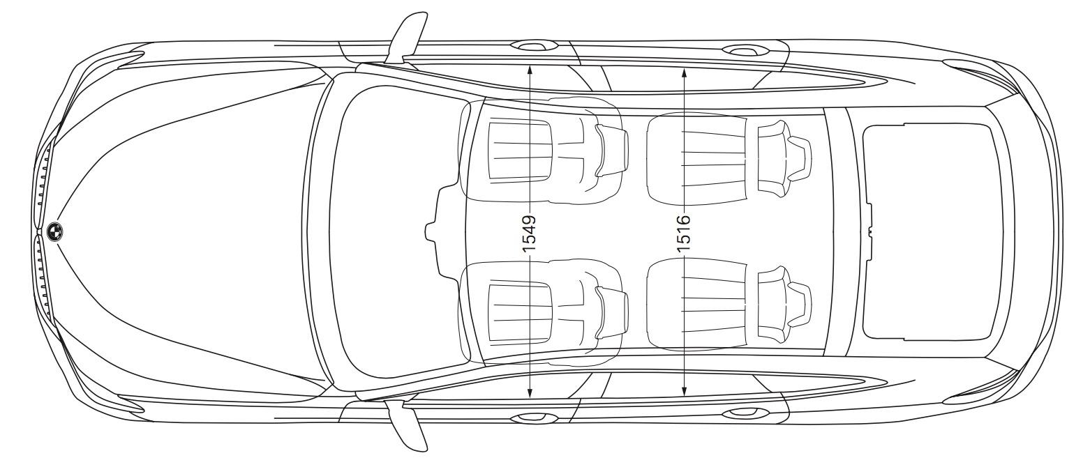 BMW Serie 6 GT - Dimensioni, misure e peso - Bagagliaio 3