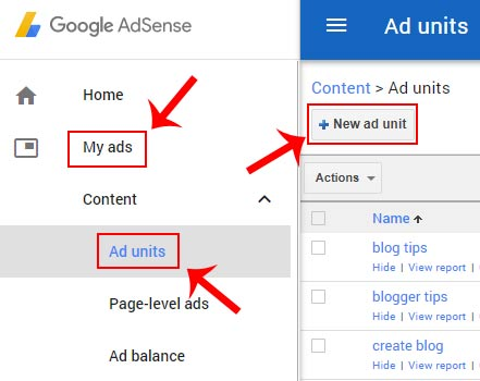 matched content ads kaise banaye