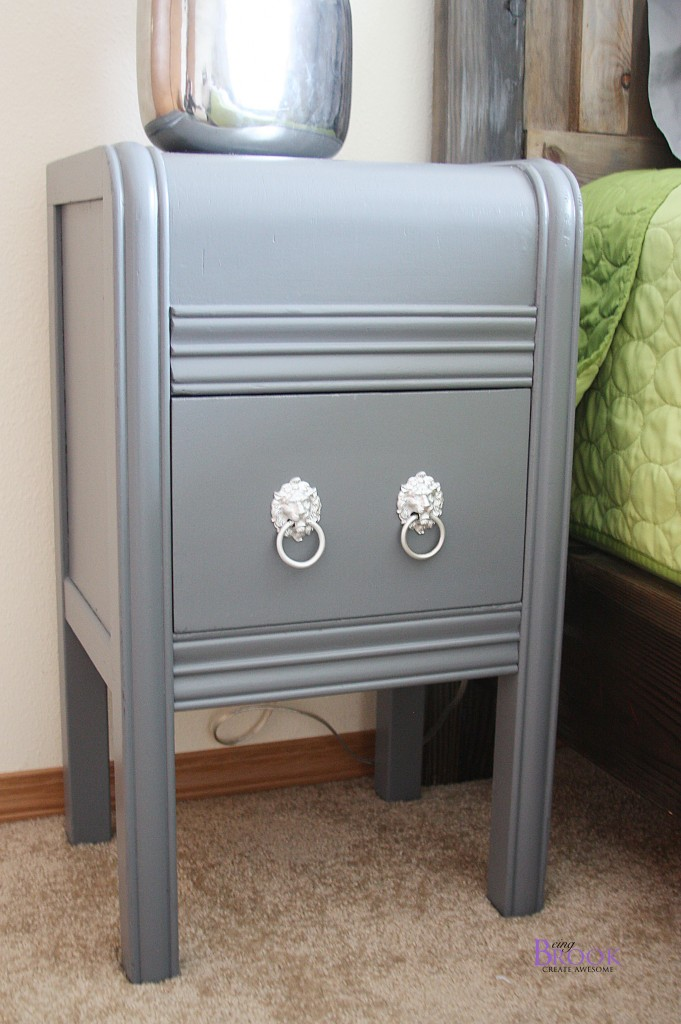 Gray Nightstand Makeover Dinosaur Boy Bedroom Beingbrook