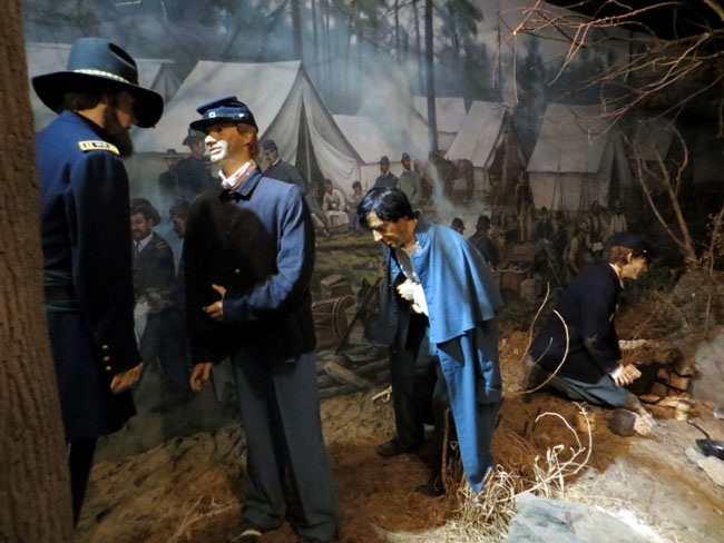 a diorama in the National Museum of Civil War Medicine