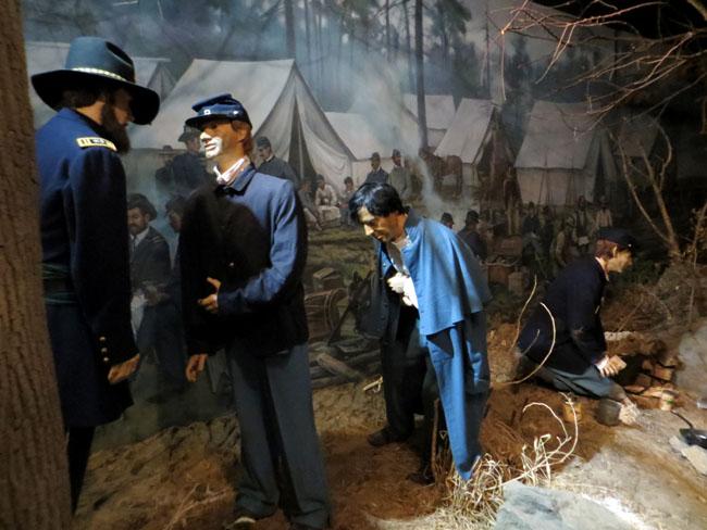 a diorama in the National Museum of Civil War Medicine