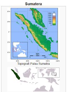 topografi pulau sumatera indonesia wisataarea.com