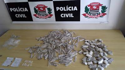 POLÍCIA CIVIL DE REGISTRO-SP APREENDE UM ADOLESCENTE INFRATOR COM GRANDE QUANTIDADE DE DROGAS