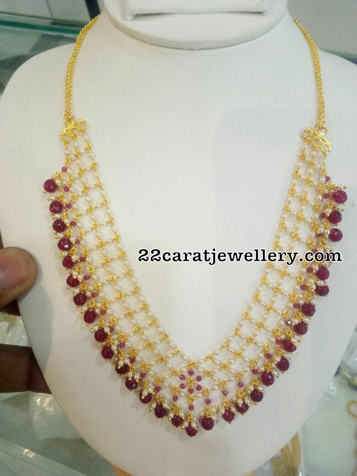 Colorful Latest Beads Sets and Pendants - Jewellery Designs