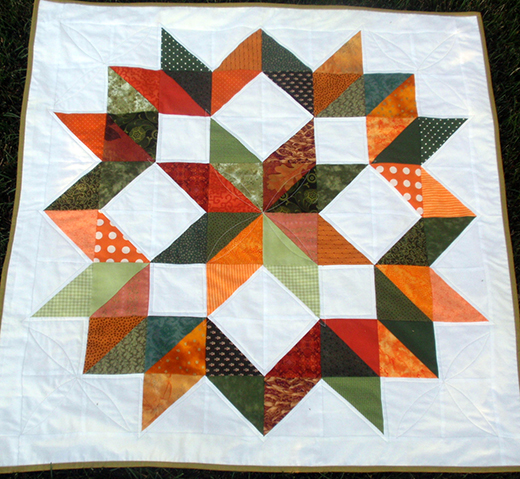 Build-A-Baby Quilt (Carpenter's Star) - Free Tutorial