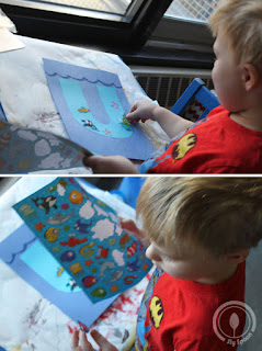 Toddler/Preshooler letter of the week craft U is for Underwater with related craft, tracing sheets and fruits/vegetables.