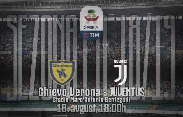 Serie A 2018/19 / 1. kolo / Chievo - Juventus, subota, 18:00h
