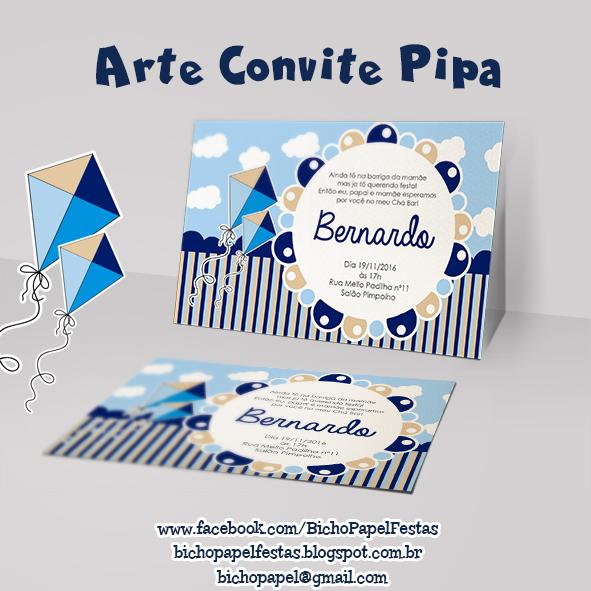 Convite Pipa Azul