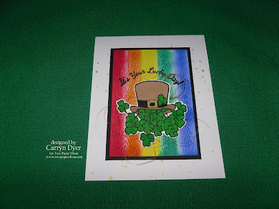 TWO PAPER DIVAS Design Team Card - St. Patrick's Lucky Day