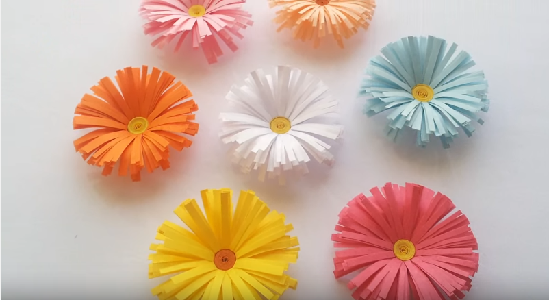 Simple paper flower yelomdiffusion simple paper daisy flowers tutorial craftsonfire mightylinksfo