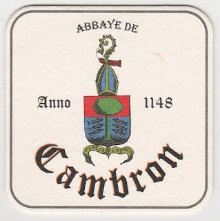 Le sous-bock de la biére de l'Abbaye de Cambron