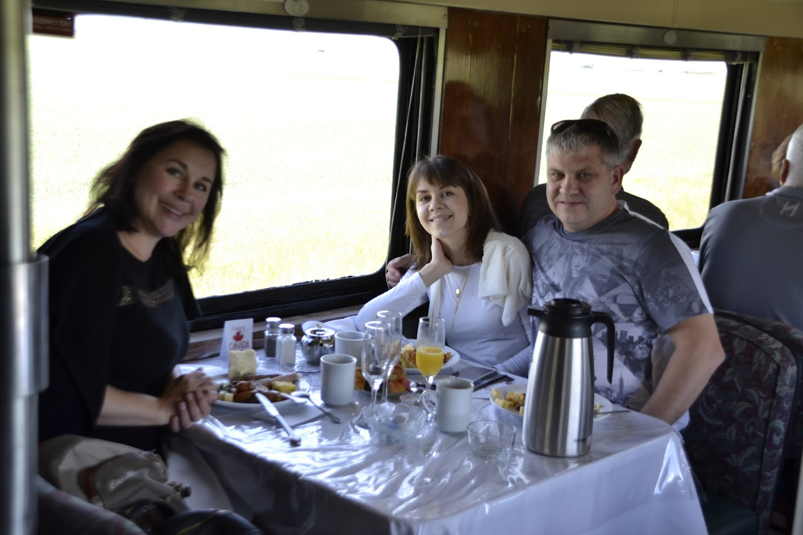 С викой в поезде сочная