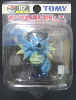 Seadra Pokemon figure Tomy Monster Collection black package series