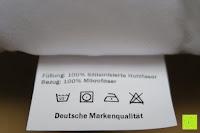 Waschetikett: GOLD STERN Medicate Allergiker Kopfkissen 40x80 cm, waschbar 95 Grad