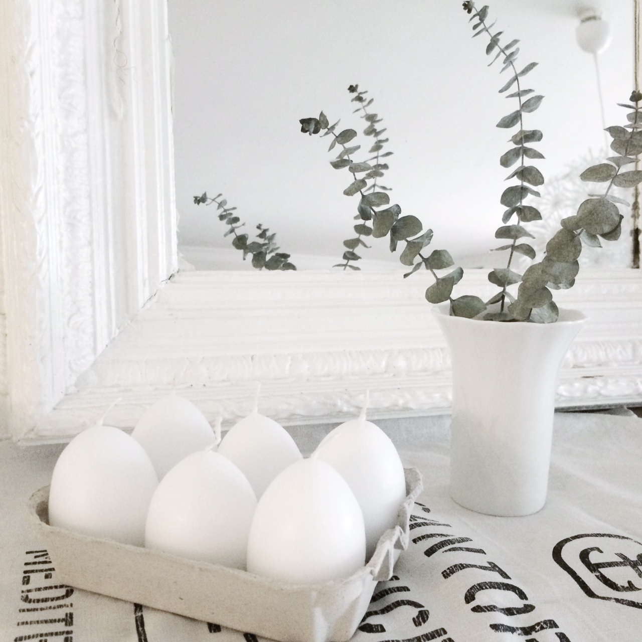 decorating for easter pure white