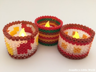 Autumn battery tea light holders