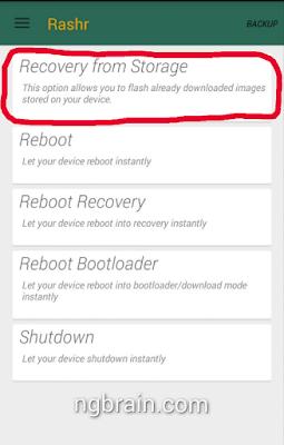 Rashr Recovery Backup