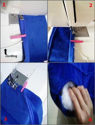 cara membuat bantal lantai