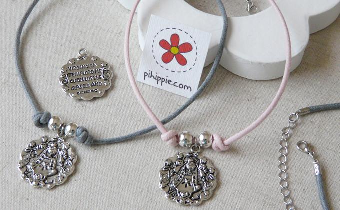 Regalos Comunión collar cordón medalla Virgencita original invitados