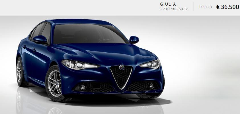 Alfa Romeo Giulia colore Metallizzato-Blu Montecarlo