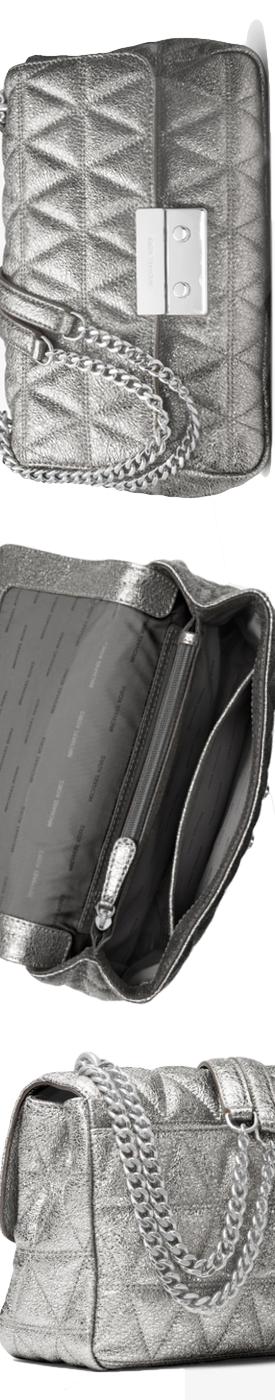 MICHAEL MICHAEL KORS Sloan Metallic Quilted-Leather Shoulder Bag