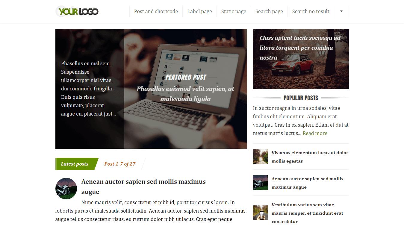 FreshOptimz - Theme Blogger dengan Desain yang Elegant, Clean, Fast loading dan SEO Friendly