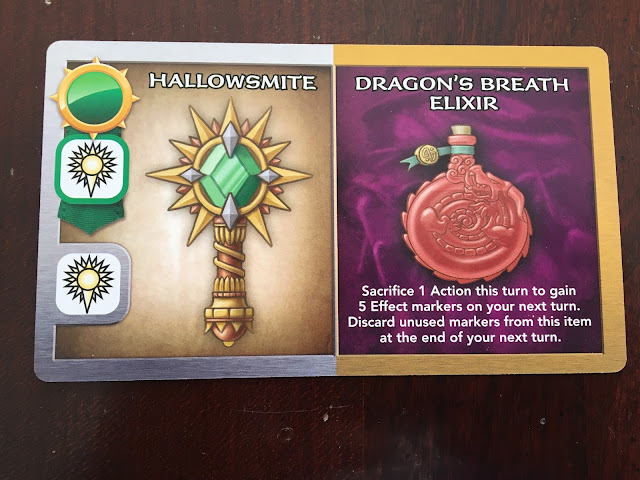 Wakening Lair Treasure Card Rather Dashing Games Hallowsmite and Dragon's Breath Elixir