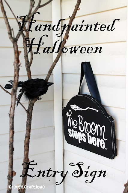 handmade halloween entry sign
