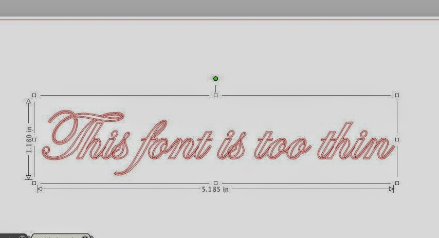 Thin fonts, cut, Silhouette, no tearing, Silhouette Studio, offset