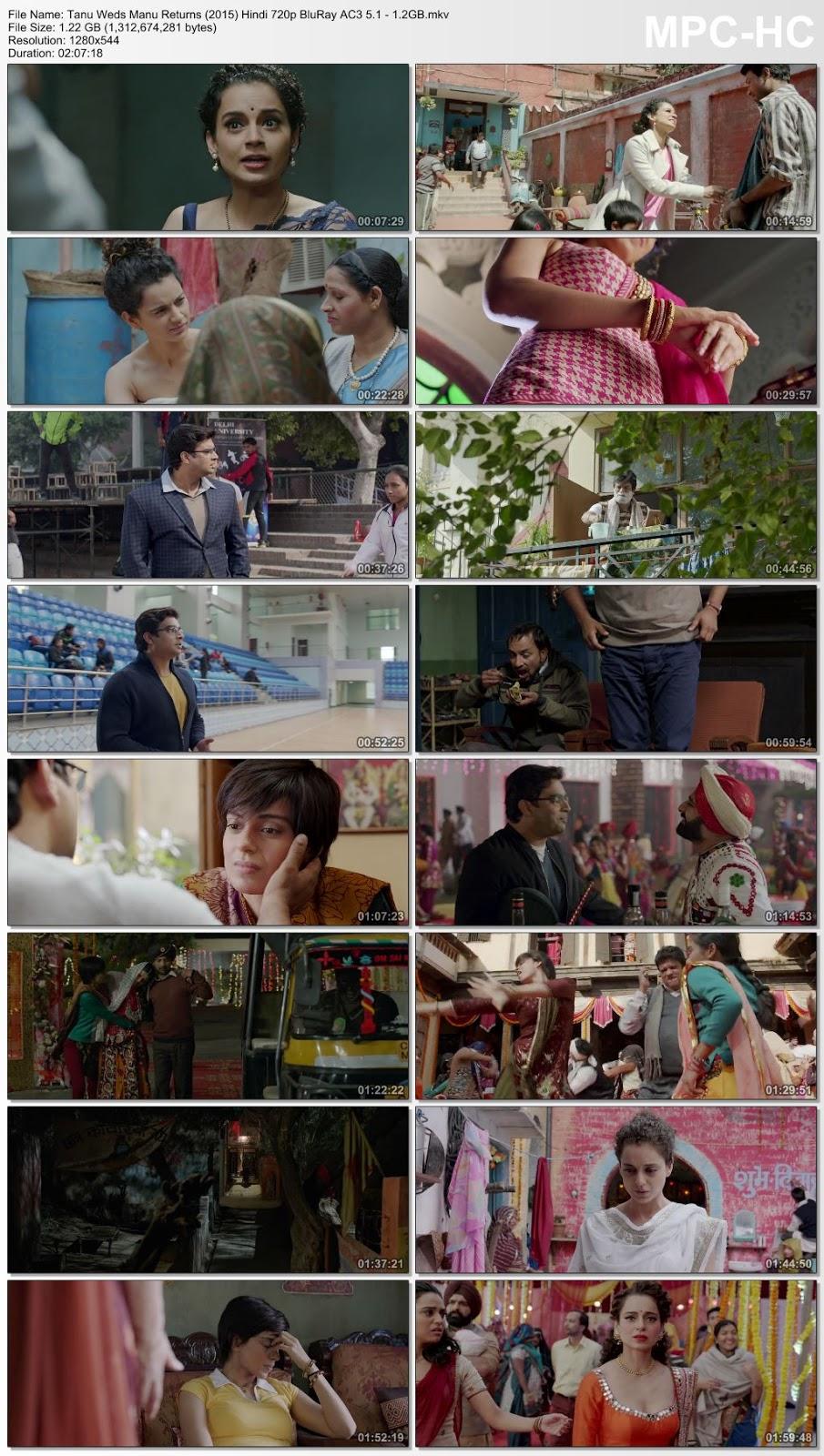 Tanu Weds Manu Returns (2015) Hindi 720p BluRay AC3 5.1 – 1.2GB Desirehub