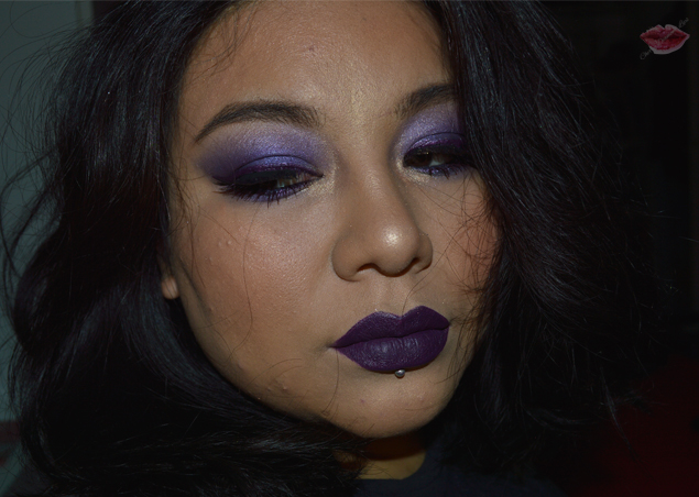 Purple Makeup con Liquid Suede Subversive Socialite di Nyx e 828 Hean