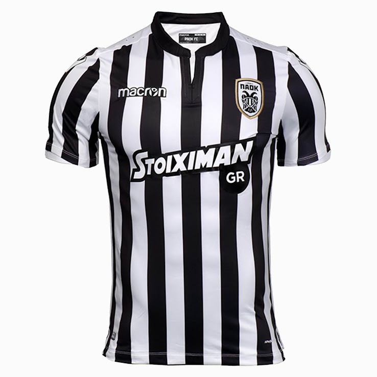 Paok 17 18 home away third kits released footy headlines for Paok salonique