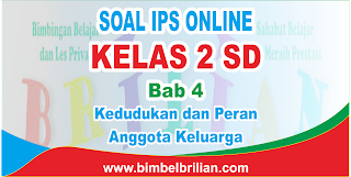 Soal IPS Online Kelas 2 SD Bab 4 Kedudukan dan Peran Anggota Keluarga Langsung Ada Nilainya