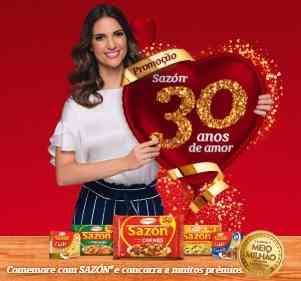 Cadastrar Nova Promoção Sazón 30 Anos Amor Aniversário 2018