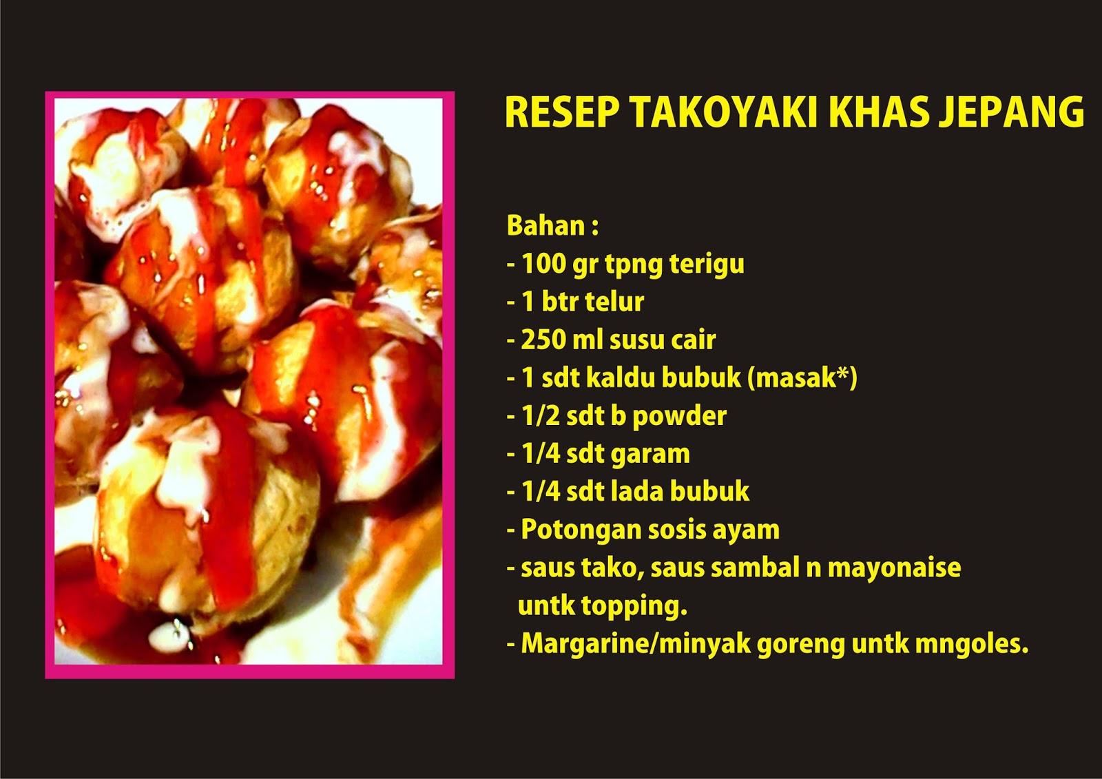Resep Kue Jepang Takoyaki: Resep Rumahan Takoyaki Khas Jepang