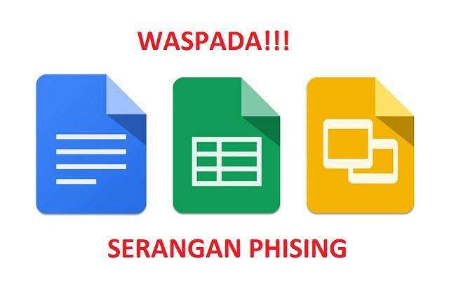 Waspada! hacker melakukan phising menggunakan Google Docs