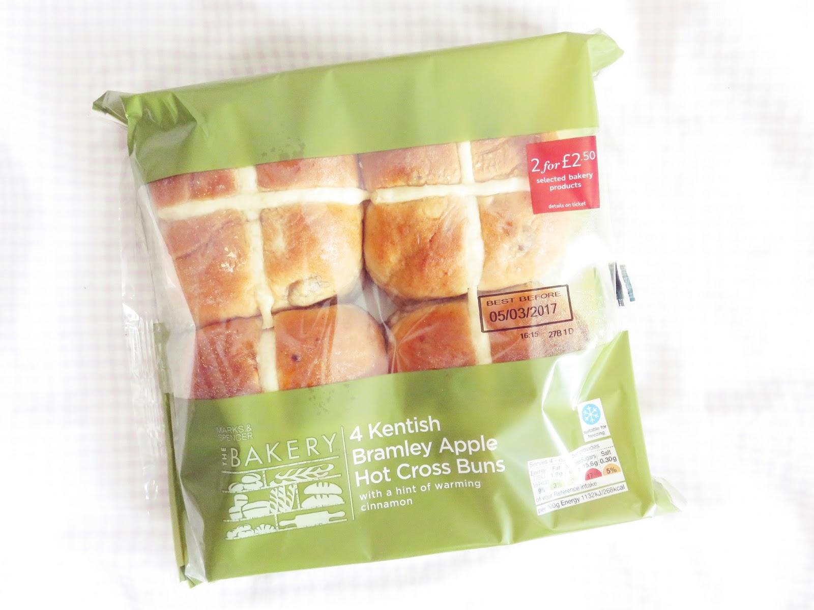 m&s apple hot cross buns taste like deception