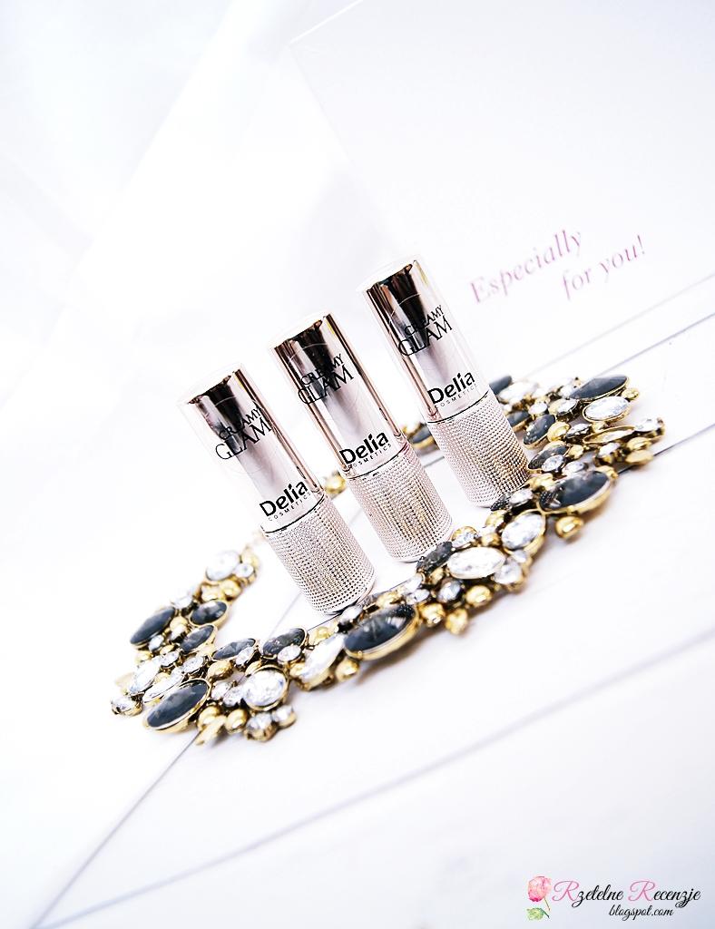 delia cosmetics, pomadki creamy glam