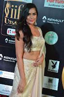 Prajna Actress in bhackless Cream Choli and transparent saree at IIFA Utsavam Awards 2017 002.JPG