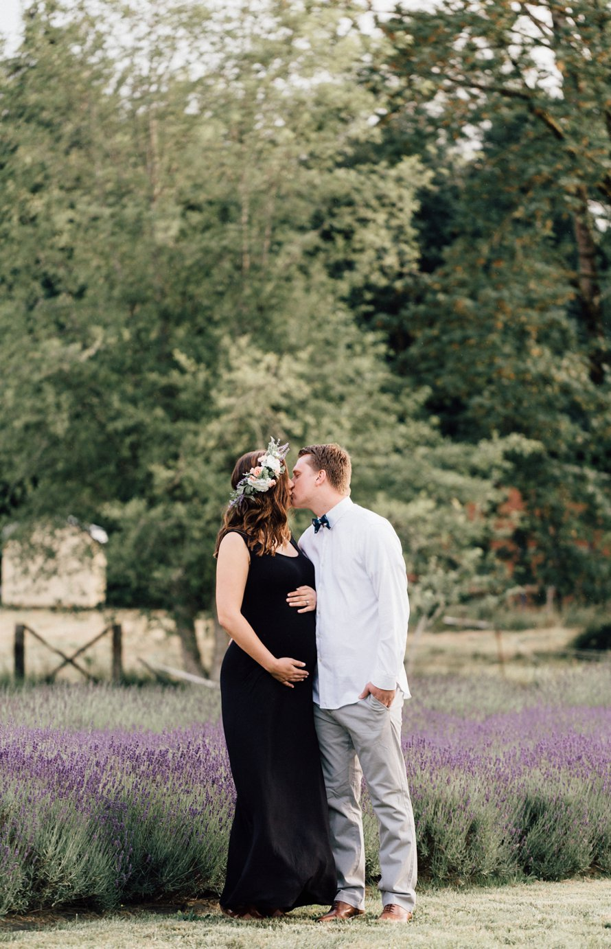 Romantic Lavender Field Maternity Session by Something Minted Photography