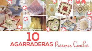 10 Agarraderas Vintage / Patrones Crochet