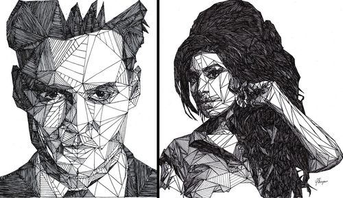00-Josh-Bryan-Monochromatic-Triangulation-Drawings-Portraits-www-designstack-co