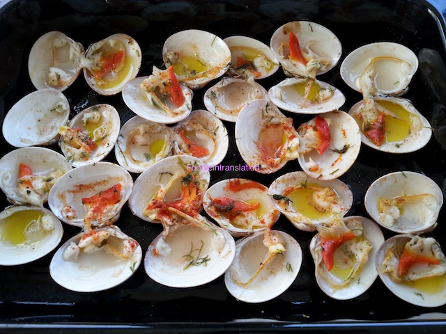 Fasolari al forno - Baked smooth clams