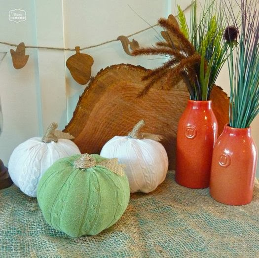 Easy DIY Sweater Pumpkins