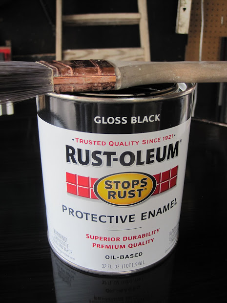 How to Paint Furniture Black Lacquer